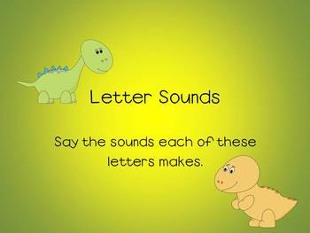 Letter Sounds - Power Point, Dinosaur Theme