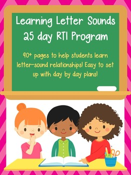 Letter Sounds RTI  / Letter Sounds Activity / Kindergarten RTI