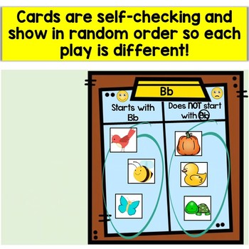 Letter Sounds Sort Boom Cards (Beginning Sounds, Initial Sounds, Phonics)