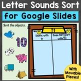 Letter Sounds Sort Digital Google Slides Beginning Sounds