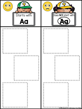Letter Sounds Sort Learning Center & Pocket Chart Cards (Beginning Sounds)
