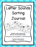 Letter Sounds Sorting Journal