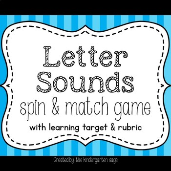 Letter Sounds Spin & Match