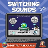 Letter Sounds Switching Digital Boom Task Cards