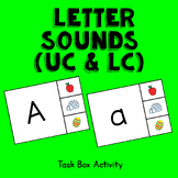 Letter Sounds Task Box Activity - Uppercase and Lowercase