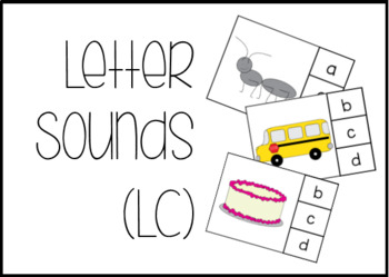 Letter Sounds Task Box Activity - Uppercase and Lowercase- Version 2 #btsfresh