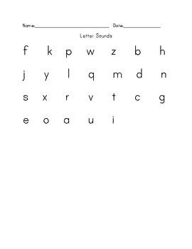 Letter Sounds Test