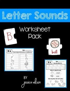 Letter Sounds Worksheet Pack