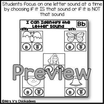 Letter Sounds Worksheets: Dot the Letter Sound