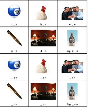 Letter Sounds in Word Families