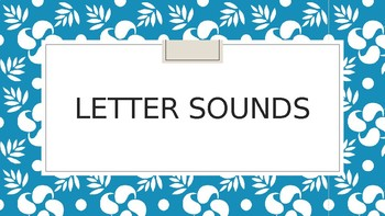 Letter Sounds with Audio