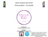 Letter Sounds with Audio Pronunciation (42 Sounds)