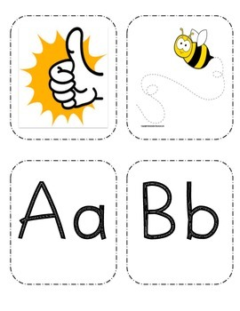 Letter Sound Flashcards with Picture and Actions