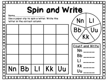 Letter Spin Print & Go