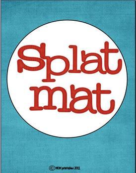 Letter Splat Mats