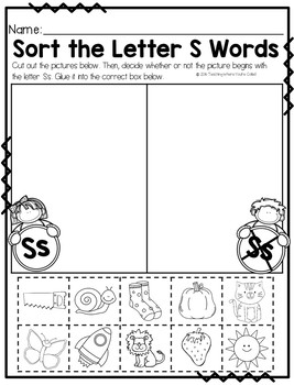 Letter Ss Activity Pack