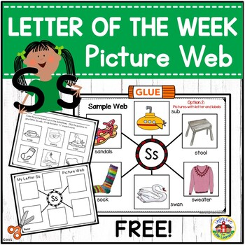 Letter Ss Beginning Sound Picture Web Activity