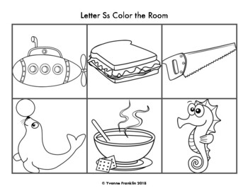 Letter Ss Color, Trace & Write the Room
