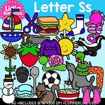 Letter Ss Digital Clipart
