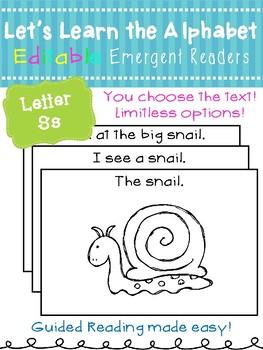 Letter Ss *Editable* Alphabet Emergent Reader