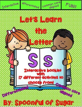 Letter Ss- Interactive Activities Booklet