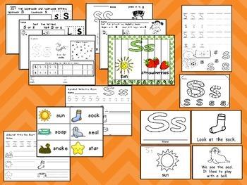 Letter Ss Mega Pack- Kindergarten Alphabet- Handwriting, Little Books, and MORE!
