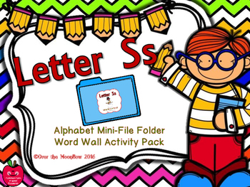 Letter Ss Mini-File Folder Word Wall Activity Pack