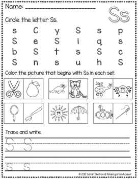 Letter Ss Practice (RTI)