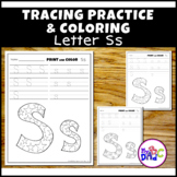 Letter Ss Printing and Pattern Coloring Worksheets