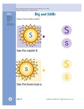Letter Ss (Sun)