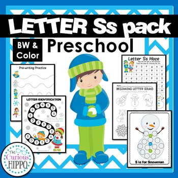 Letter Ss identification, phonics, and writing for preschool