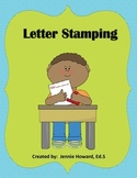 Letter Stamping A to Z
