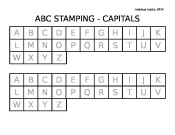 Letter Stamping - Capital Letters