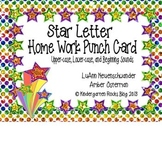 Star Letter Homework Punch Cards (Alphabet/Beginning Sounds)