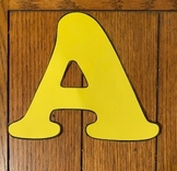 Letter Stencils for Banners, Bulletin Boards & Alphabet Books