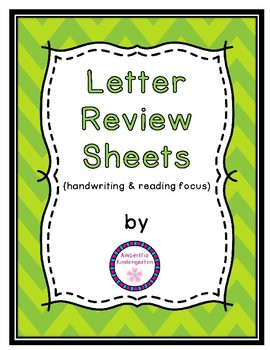 Letter Study Review Sheets--Handwriting and Reading Focus