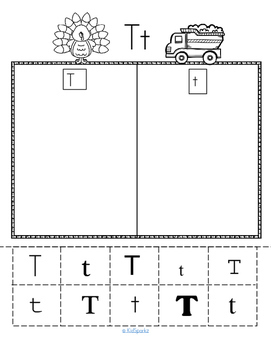Alphabet T Letter of the Week Phonics Recognition, Sound, Tracing & Craftivities