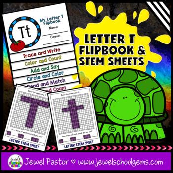 Letter T Alphabet Flip Book (Alphabet Interactive Notebook Activities)