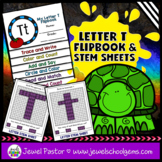Letter T Alphabet Flip Book (Alphabet Interactive Notebook