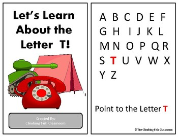 Letter 'T' Adapted Book