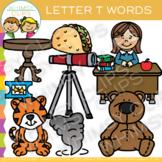 Letter T Clip Art {Alphabet Beginning Sounds Clip Art}