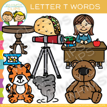 Letter T Clip Art {Alphabet Beginning Sounds Clip Art}