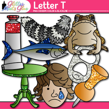 Letter T Alphabet Clip Art {Teach Phonics, Recognition, and Identification}
