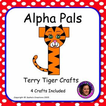 Letter T Alphabet Craft: Terry Tiger Alpha Pal