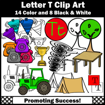 Alphabet Letter T Clip Art, Beginning Sounds Clipart SPS