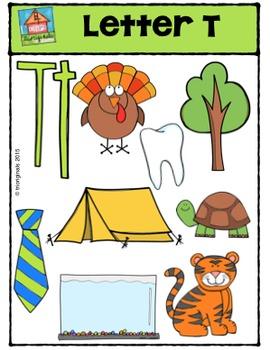 Letter T Alphabet Pictures {P4 Clips Trioriginals Digital