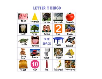 Letter T Bingo