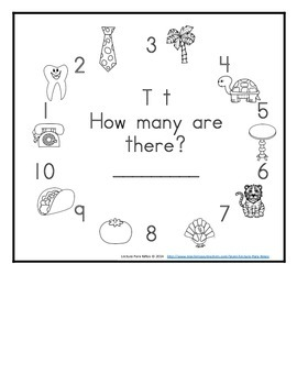 Letter T  Counting Books