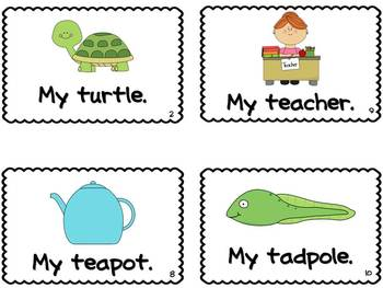 Letter T Book of Beginning Sounds-Emergent Reader w/Running Record-CCSS Aligned
