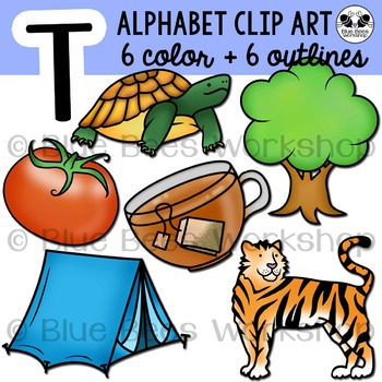 Letter T Clip Art Alphabet / Beginning Sound T
